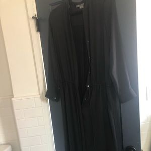 Vince Black Long Sleeve Maxi dress